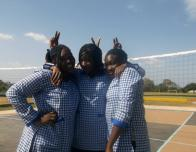 My best friends and I in our boarding school uniforms