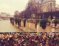 The Famous Cathedral of Notre Dame, Seen from the Love-Lock-Covered Pont des Arts
