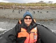 Author with Penguins on Tuckers Islets