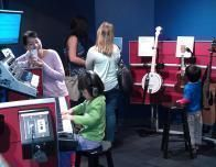 There's a music-making studio at the Museum of Making Music, where visitors play everything.
