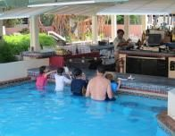 The swim-up bar at Comfort Inn & Suites is very popular.