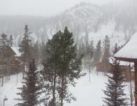 Snow capped condominium at Keystone Resort
