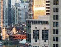 View of Chicago River from the Loews Chicago Hotel