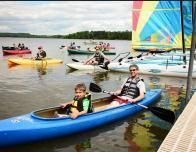 Father and Son Kayaking, Courtesy of Tyler Place Family Resort
