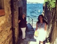 With my Grandmother on a Day Trip to Lago Maggiore with Our Italian Relatives