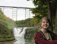 Upper Falls with Train Trestle