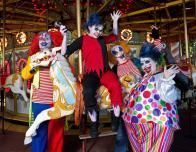 The Pscyho Circus Clowns are part of the Fright Fest fun.