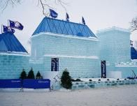 Ice Castle during the Quebec Winter Carnival