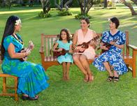 Kaanapali Beach Hotel ukelele lesson for guests.