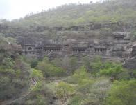 Ajanta Caves Set in a Horseshoe Shaped Cliff