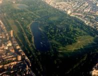 Aerial view of London's Hyde Park