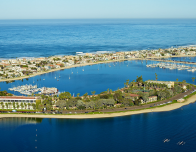 Bahia Resort Hotel Aerial View over Mission Bay, California