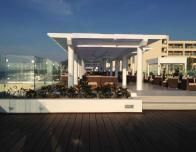 Bar Deck overlooking the beach is ideal for sunset viewing, and popular for weddings..