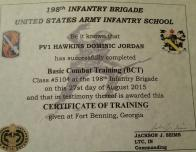 Basic Training Completion Certificate