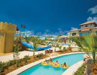 Winding lazy river at Beaches Turks & Caicos resort in the Caribbean.