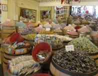 Retro candy is widely sold in town.