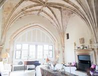 Living Room in a Castle Home, Suffolk, England
