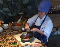 Fresh ceviche being prepared at the Andaz Peninsula Papagayo Resort.