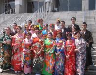 A Class Photoe After the Kimono and Tea Cermony