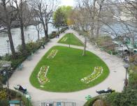 A Garden in the Middle of the Seine in Paris