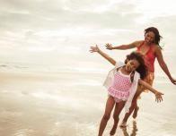 Mom and Daughter Enjoy Daytona Beach