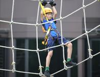 Kids rope course at Discovery Adventures Moganshan Park.