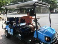The Doubletree Beach Shuttle is a fun golf cart adventure.