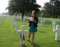 Natalie McDonald Performing a Eulogy at the Grave of Private Jordan R. Krummes