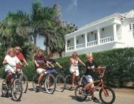 Family Cycling at Half Moon, Montego Bay, Jamaica