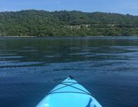 floating on Culebra Bay