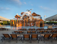 You can beat the heat at the Gaylord Texan waterpark.