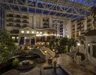 Gaylord Texan has a Riverwalk themed area with restaurants.