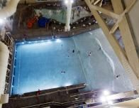 Sky high view of Great Wolf New England indoor waterpark.
