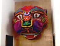 Huichol Indians made the beaded Jaguar head in the Iberostar's lobby.