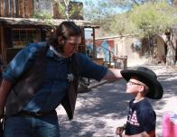 The cowboys at Bonnie Springs Ranch are so friendly and engaging with the kids