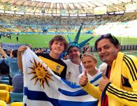 Anticipation Paused by a Selfie Before the Uruguay Columbia Games