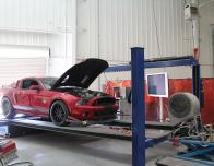 Here's a Mustang Being Test on the Dyno