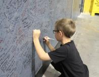 Sign Your Name on the Shop Walls to Let the World Know You Were at Shelby!