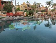 One of the resort's five pools