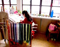 Craftswoman at the Embroidery Institute