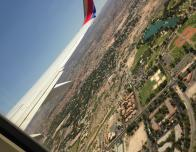 My view from the plane window as we departed Las Vegas.
