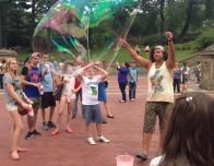 The Lovely Bubble Man in Central Park