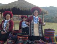 Weavers show off the finished products