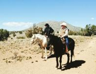 Our trail guides, Rod and Bentley, with their Trusty Steeds
