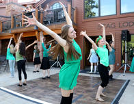 Broadway Dreamers practice a dance routine.