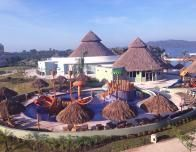 Kids have their own Aquatic Playground at the Iberostar.