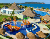 Huge kids waterpark at the Iberostar Playa Mita Resort, Nayarit, Mexico.