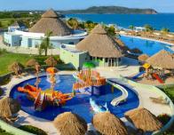 Huge kids waterpark at the Iberostar Playa Mita Resort, Nayarit, Mexico.