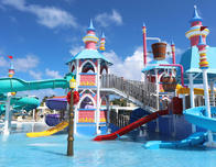 Waterpark at Luxury Bahia Principe in DR's Bavaro resort.