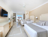 Guest room at Luxury Bahia Principe in Bavaro.